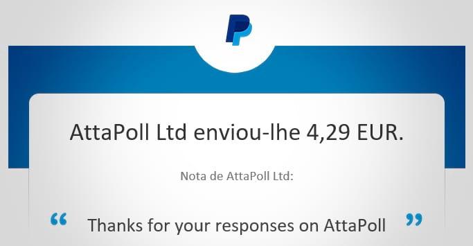 Attapoll - Pagamento
