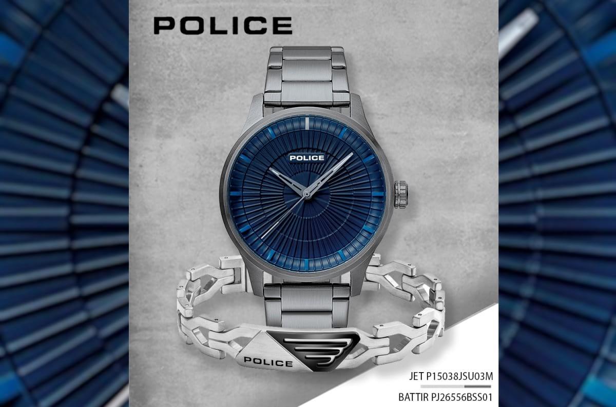 Relógio POLICE JET e pulseira BATTIR