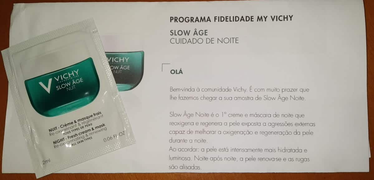 Amostra: Vichy Slow Age Nuit