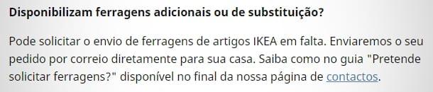 FAQ - Ferragens IKEA