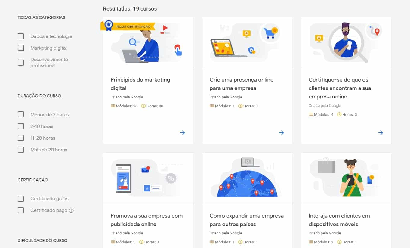 Atelier Digital Google - Cursos