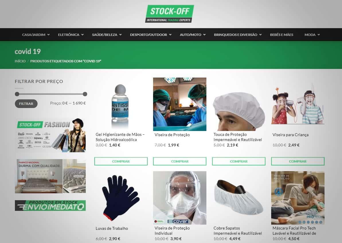 Stock-Off - Produtos Anti-Covid