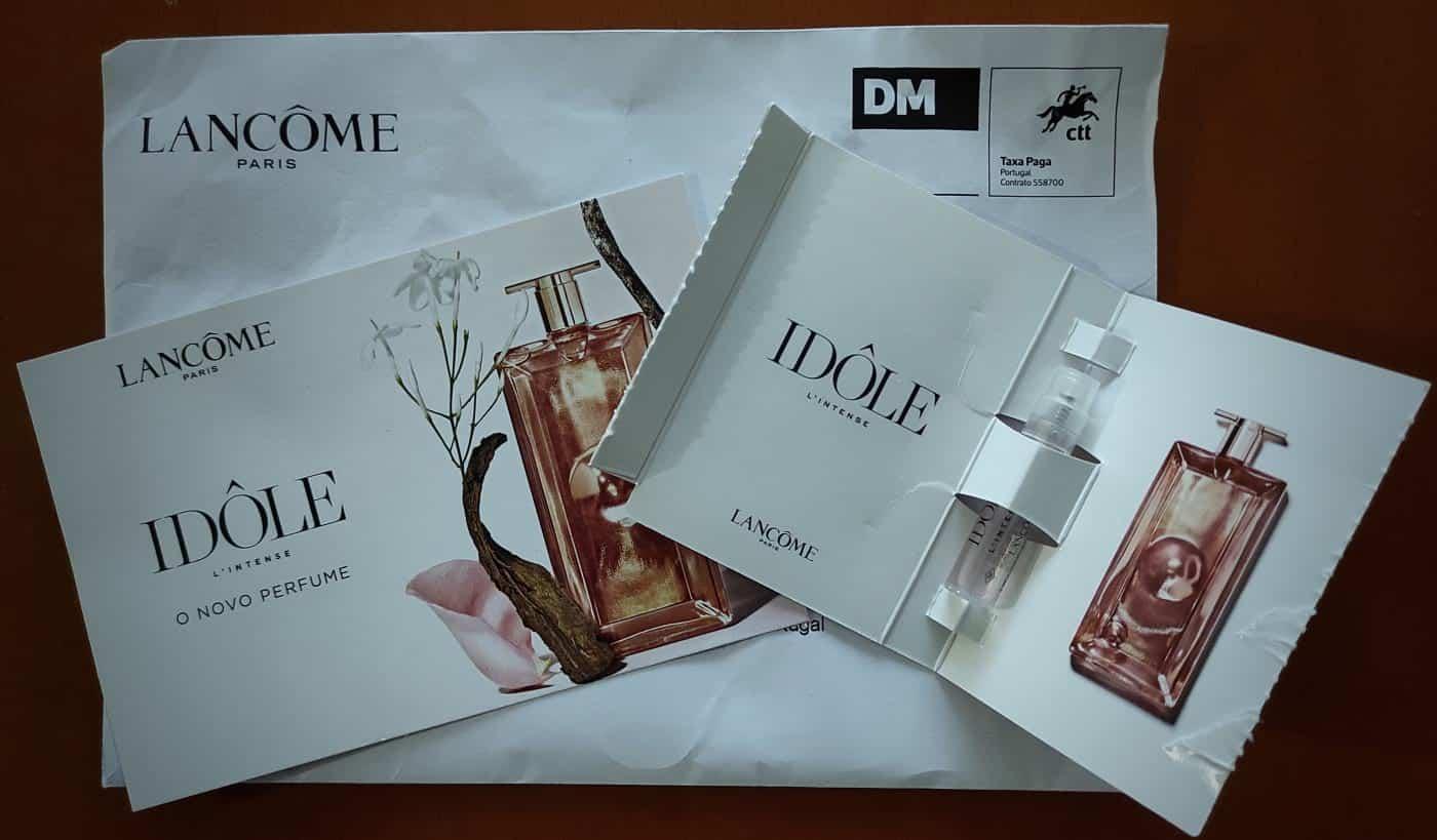 Amostra do Perfume Idôle L'intense da Lancôme