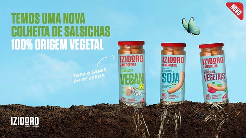 Salsichas 100% Origem Vegetal da Izidoro