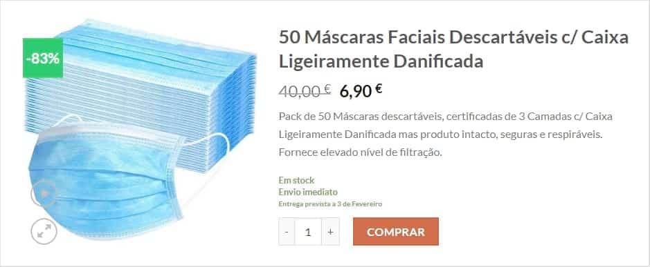 Stock-Off - Máscaras Descartáveis