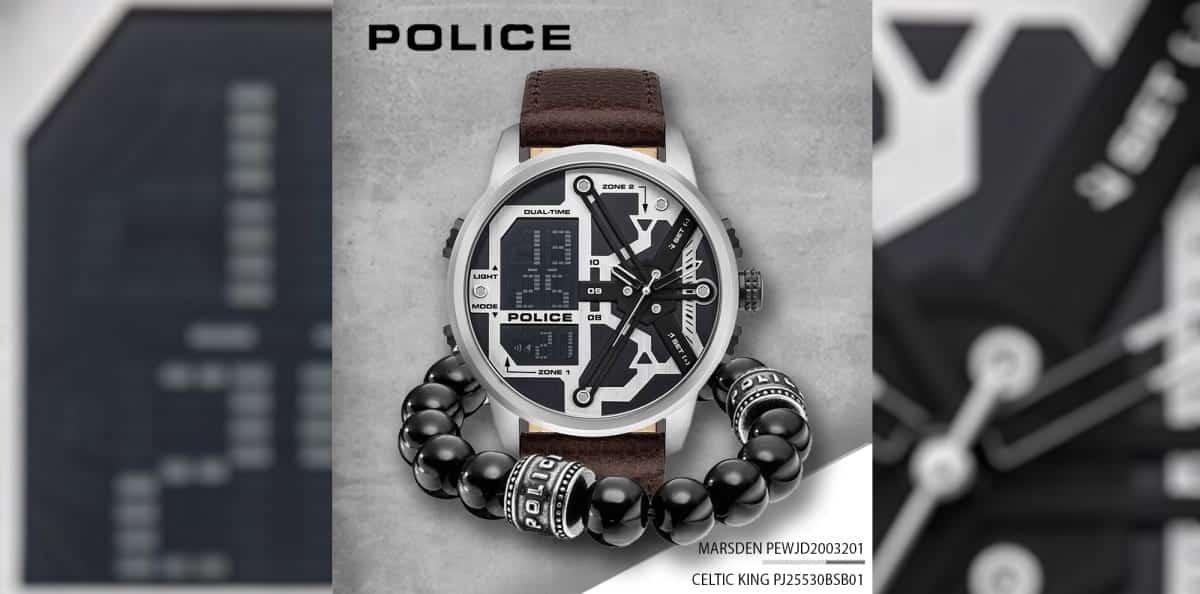 Relógio POLICE MARSDEN e pulseira CELTIC KING