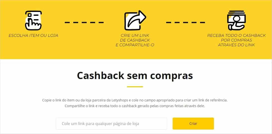 LetyShops - Cashback sem compras