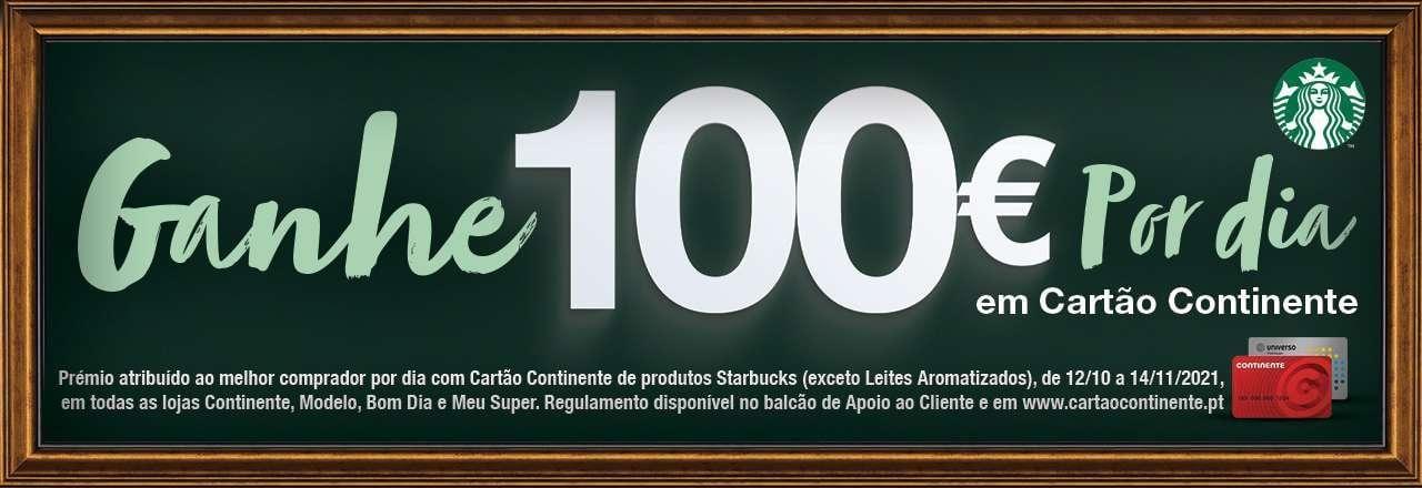100€ por dia em cartão continente