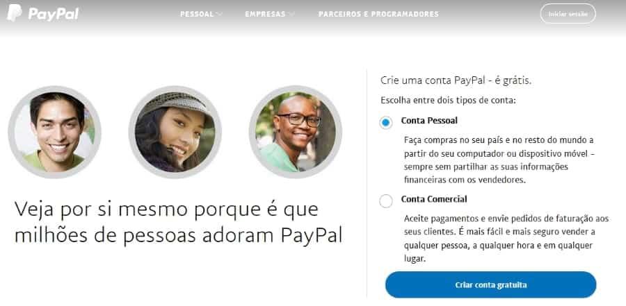 Aderir ao Paypal