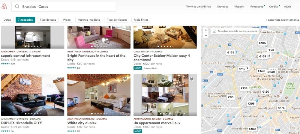 Airbnb - Alojamentos em Bruxelas