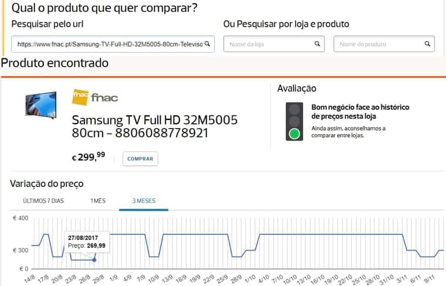 DECO - Comparar Preços - TV da FNAC