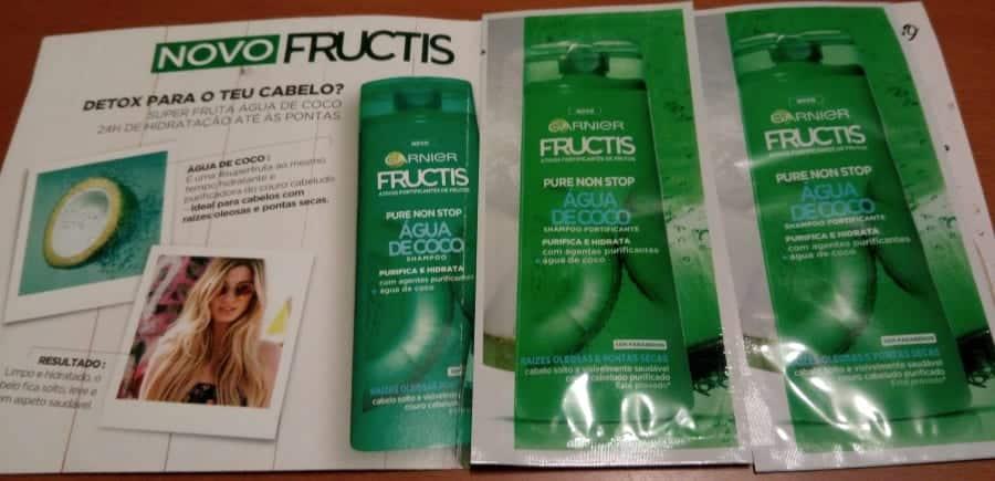 Fructis Agua de Coco - Amostra Recebida