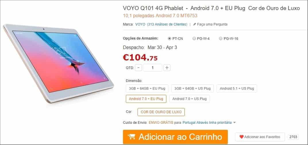 GearBest - VOYO Q101