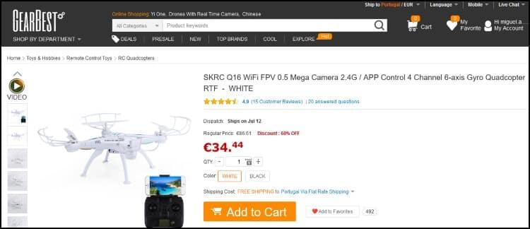 GearBest drone SKRC Q16