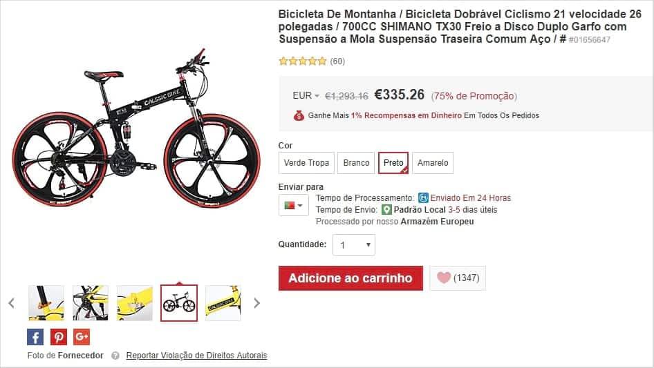 Lightinthebox - Bicicleta Dobrável