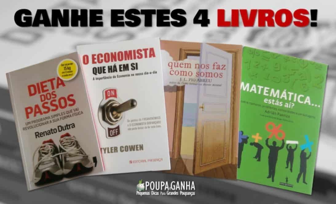 Passatempo Poupa e Ganha - 4 Livros