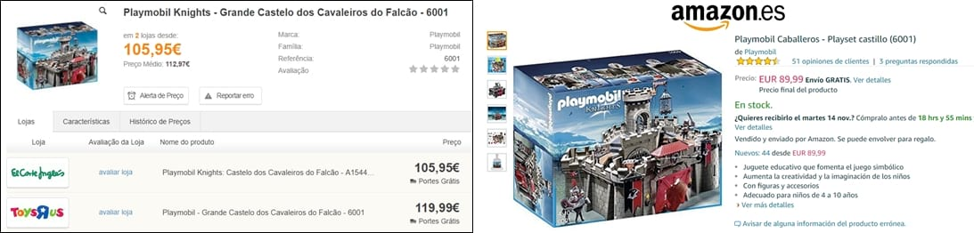 Amazon  - Castelo Playmobil