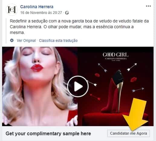 Amostra Carolina Herrera