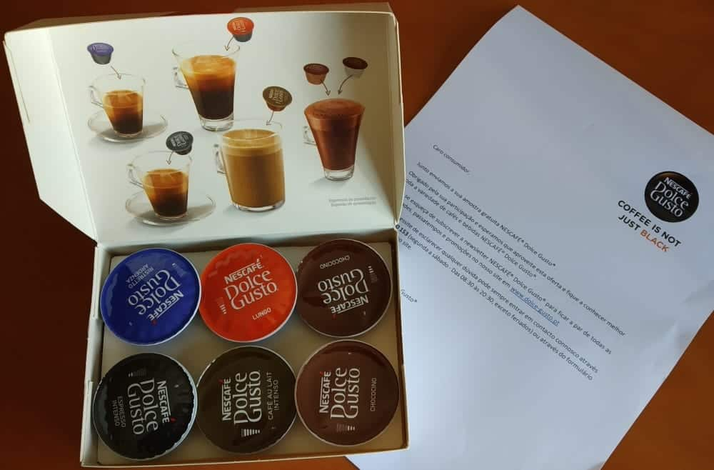 Amostras Dolce Gusto