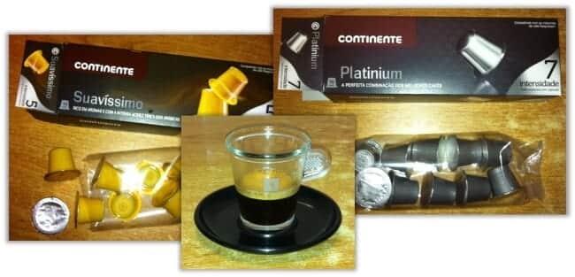 Cápsulas de café Continente compatíveis com Nespresso