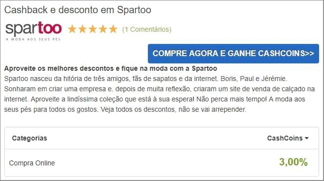 CashbackDeals - Spartoo