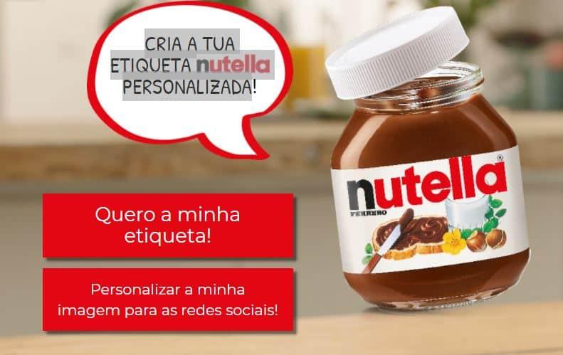 etiqueta Nutella personalizada