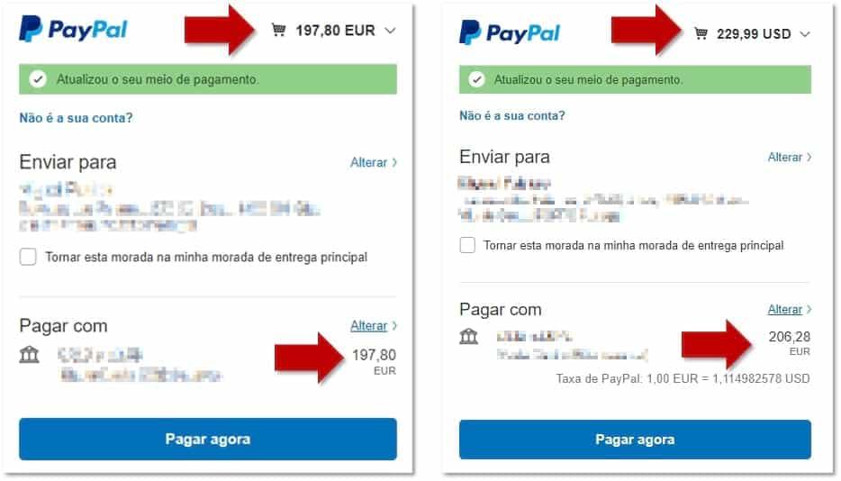 Gearbest - Pagamento em Euros e em Dólares