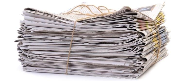 Jornais velhos