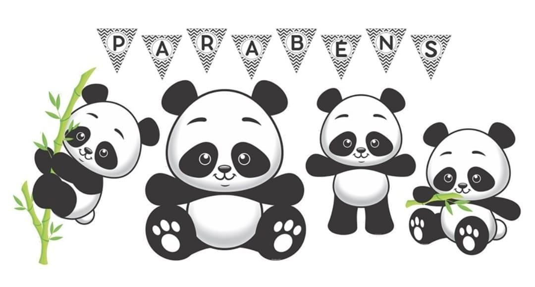 Kit de festa panda