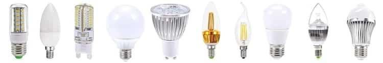 Lâmpadas LED diversas