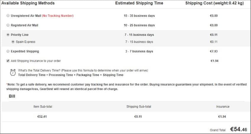 MECOOL M8S PRO Shipping