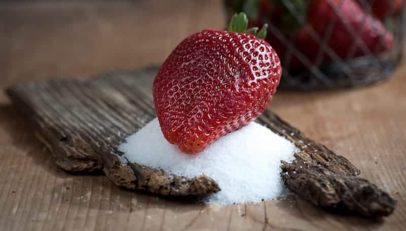morango com açúcar