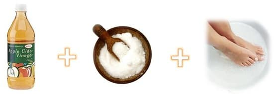 Ingredientes para um banho anti-fadiga para pés