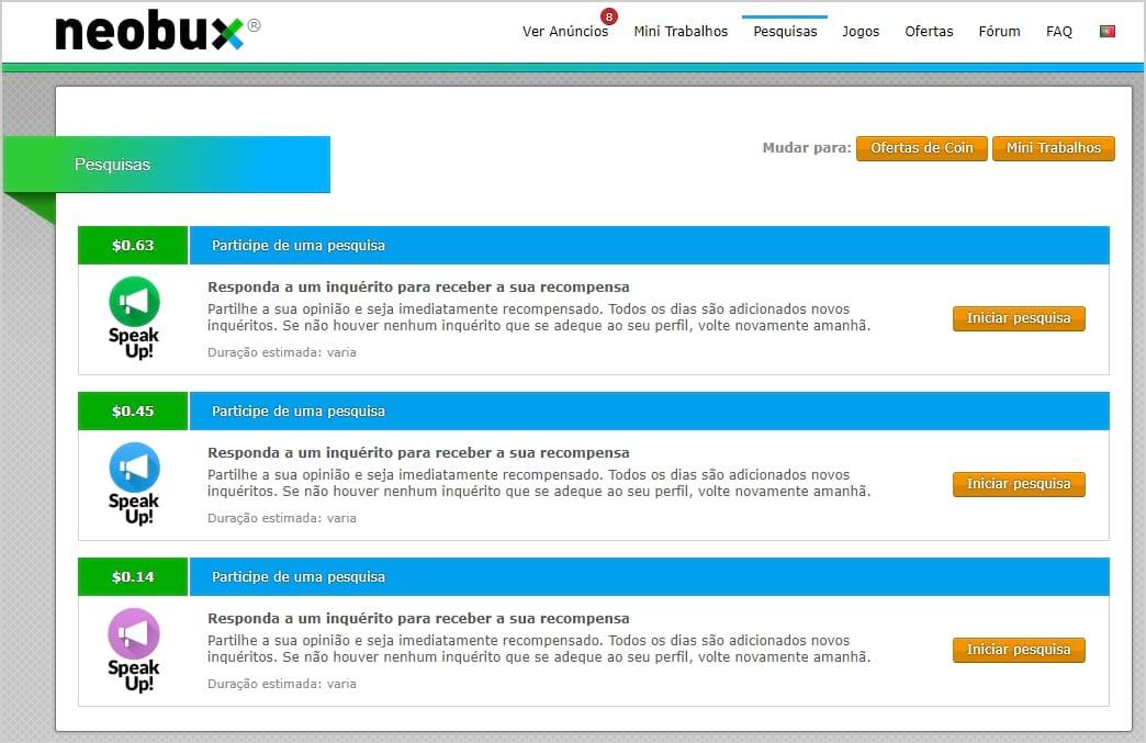 Pesquisas NeoBux