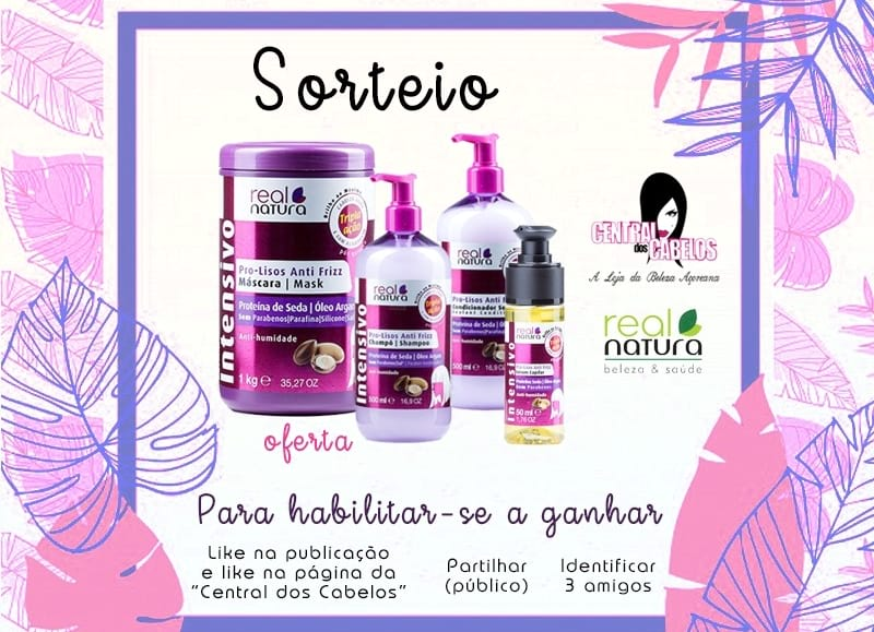 "Kit ""Pro-Lisos Anti Frizz"" da Real Natura"