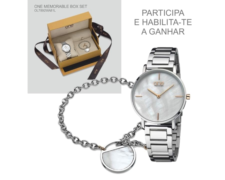 Relógio ONE MEMORABLE BOX SET