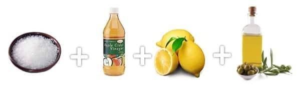 Ingredientes para uma esfoliação corporal caseira