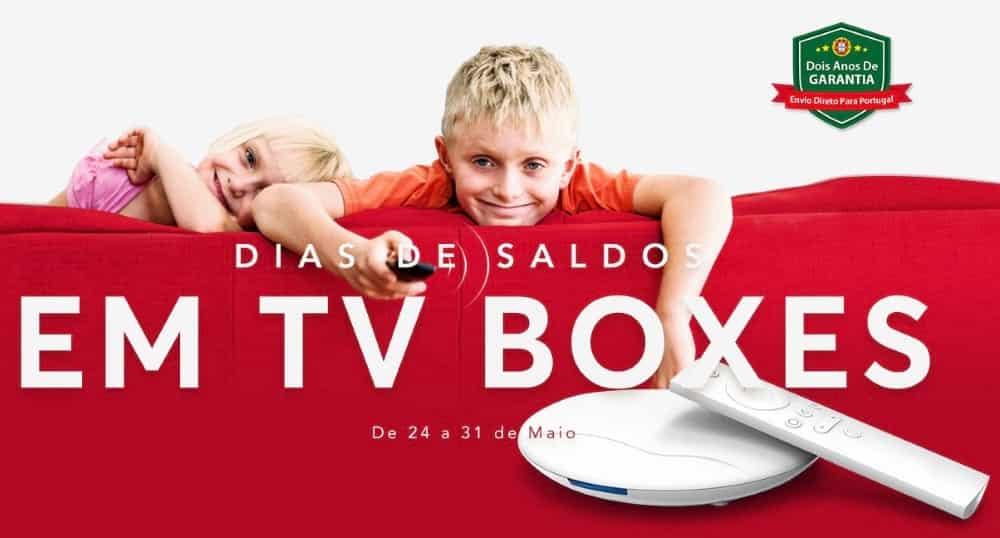 Saldos em TV Boxes na Gearbest