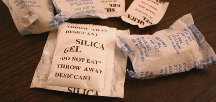 Sacos de silica