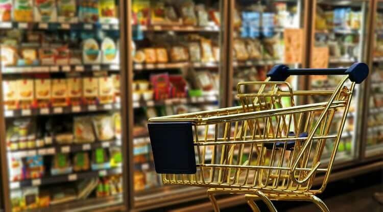 carrinho de compras no supermercado