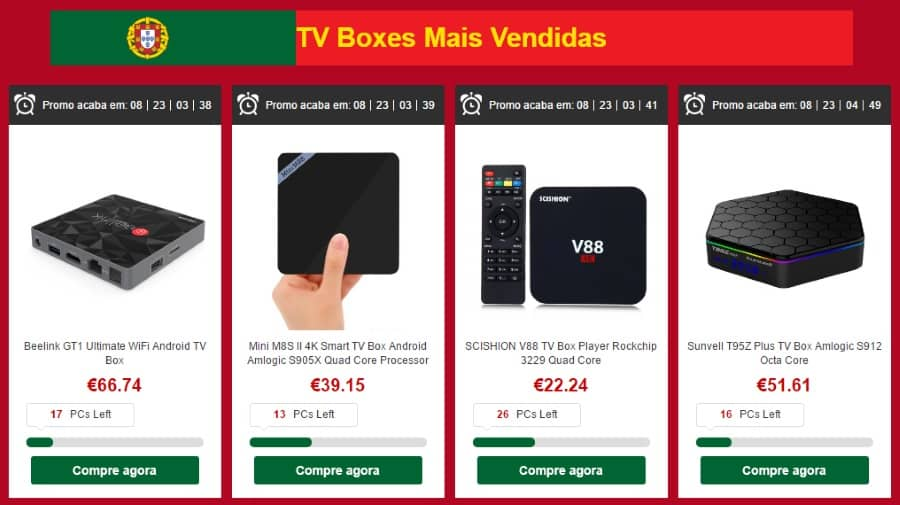 TV Boxes mais vendidas
