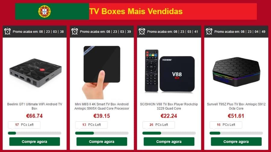 TV Boxes mais vendidas