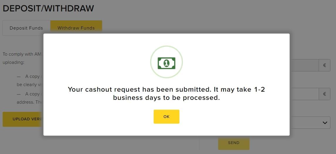 Viventor - Cashout Request